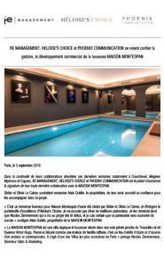 Maison Montespan - Presse